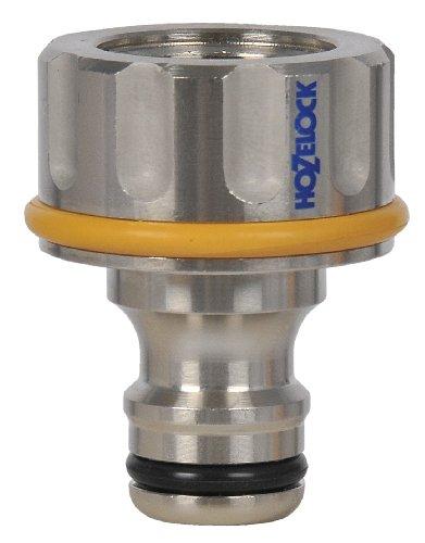 Hozelock Métal Pro Raccord de robinet extérieur Argent/Vert 16 x 10 x 8 cm