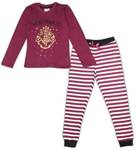 Harry Potter Mädchen Langarm Pyjama aus Baumwolle (11 Jahre, Tawny)