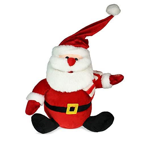 MostroMania - Babbo Natale con Effetto Sonoro e Cappello Danzante - Decorazioni Natalizie Animate - Babbo Natale Musicale - Addobbi Natalizi Divertenti
