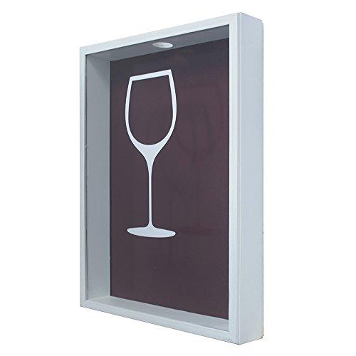 Quadro Porta Rolhas, Kapos, Taça de Vinho Minimalista, 32x42cm