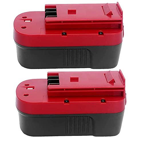 2 Packs 18V HPB18 Replace for Black and Decker 18V Battery Replacment HPB18-OPE 244760-00 A1718 FS180BX FS18BX FS18FL FSB18 Firestorm Batteries