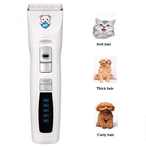 DIANKLO Pet Dog Grooming Clippers – oplaadbare, apparaatarme, draadloze Pet Clippers, professionele hondenhaartrimmer met 4 opzetkammen