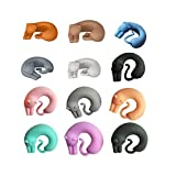 12 Silicone Marque-Verres chat Clips Multicolore