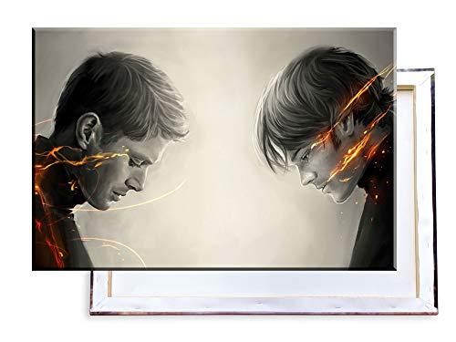 Unified Distribution Supernatural - 120x80 cm Kunstdruck auf Leinwand • erstklassige Druckqualität • Dekoration • Wandbild