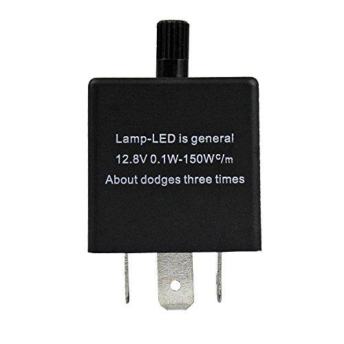 PsmGoods Relè elettronico lampeggiante a LED per freccia dell'auto, a 3 pin, regolabile