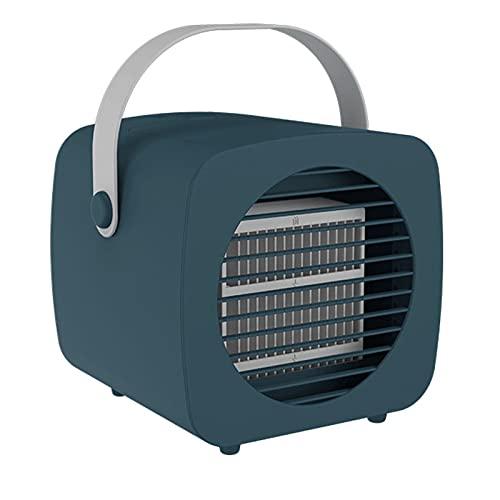 XHMJ Mini condizionatore d'Aria, Materiale PP, Regolazione della velocità del Vento a Tre Livelli, Alimentazione USB a Basso Rumore, Adatta per dormitorio/Ufficio, ECC. Green