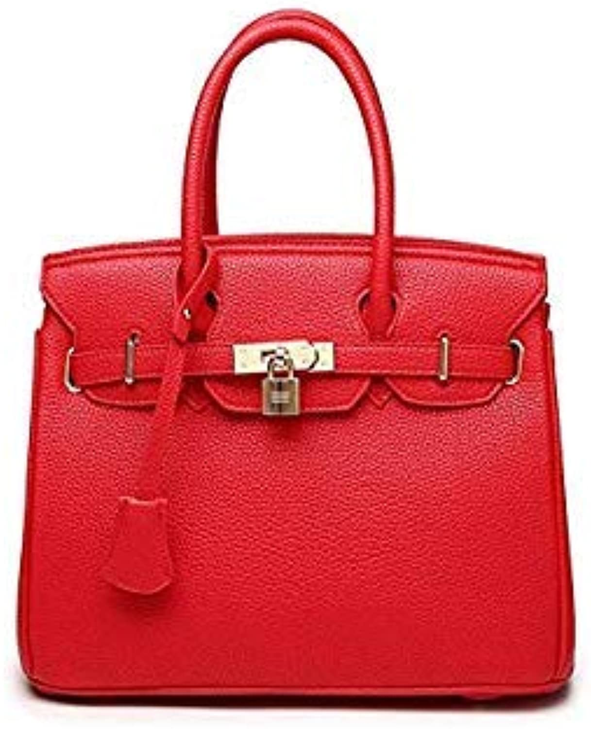 Bloomerang Lisse Women's Tote Leather Clutch Bag Small Ladies Handbags Brand Women Messenger Bags Sac A Main Femme color Red