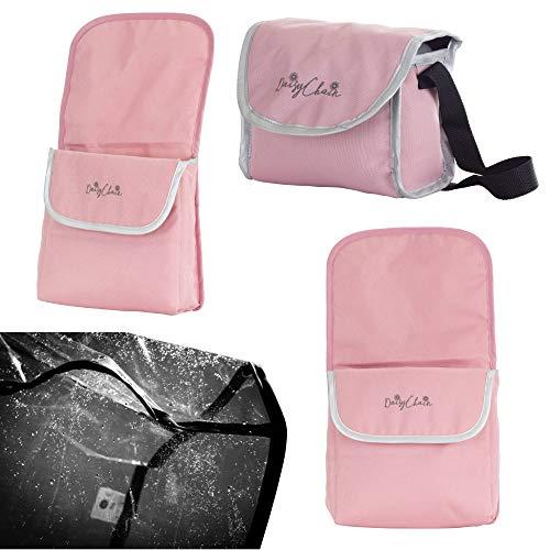 Daisy Chain Paquete de Accesorios para Silla de Paseo gemelar para muñecas Zipp: Tejido Classic Pink