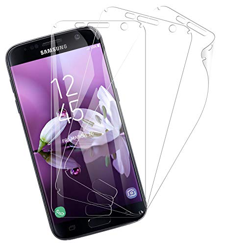 Snnisttek Protector Pantalla para Samsung Galaxy S7 Edge, 3-Unidades Película Suave de TPU Samsung Galaxy S7 Edge, Alta Definicion, Protector de pantalla, Sin Burbujas Anti-Arañazos