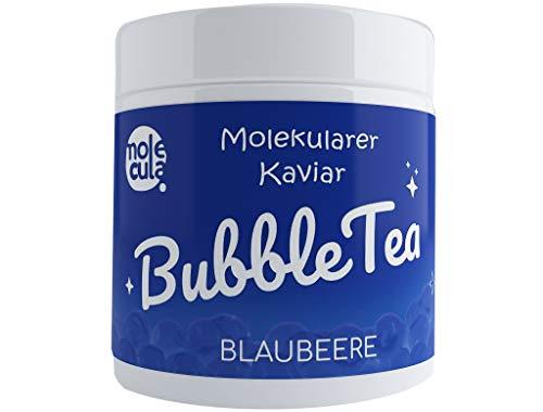 Bubble Tea Popping Boba Tapioca 100% Vegan und Glutenfrei Molecularer Kaviar Bobas ohne künstliche Farbstoffe Perlen Beere 800 g