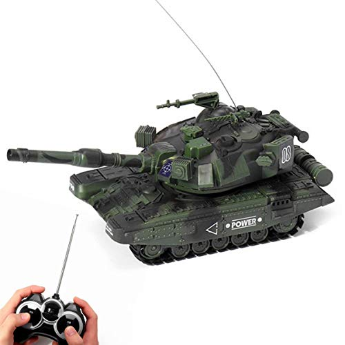 XIAOKEKE RC Tank, RC Tank Radio Remote Control Military Battle Tank That Shoots Airsoft Bullets, Remote Control Toys, is Your Best, Green,Style 2