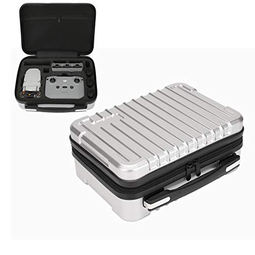 Travel Case for DJI Mini 2- Hardshell Polycarbonate Water-Resistant Storage Carry Bag for DJI Mini 2 Drone Remote Controller Battery and Accessories- Silver
