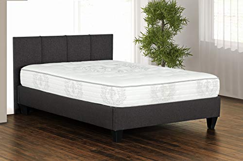 Primo International Zana colchón de Bobina de Bolsillo, tamaño King, Color Blanco/Gris