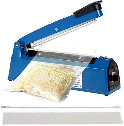 3D Cloud Plastic Handheld Heat Sealing Machine - Table Top Impulse Pouch Packet Vacuum Sealer - 12 Inch ( Blue )