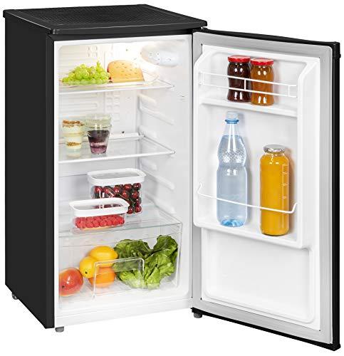 Exquisit Kühlschrank KS 85-9 RVA+swPV   Kühlen 82 Liter   Breite 45 cm   Türanschlag wechselbar   Schwarz