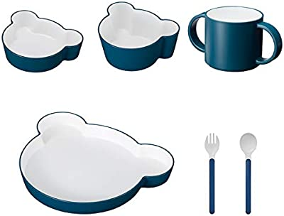 tak KIDS DISH ギフトボックス カトラリー ベア ネイビー/タック キッズディッシュ 食洗機対応 (ネイビー) 子供用食器 1011-NV