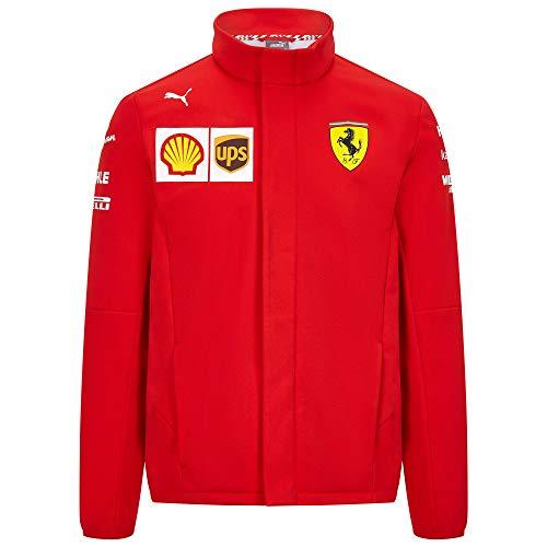 2020 Scuderia Ferrari F1 Team Herren Softshell Fleece Mantel Offizielles Produkt, Ferrari F1 Softshelljacke, Herren (S) Brust 88-92 cm