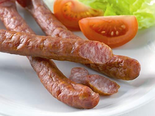 Food United Pfefferbeisser 1 kg in der GV-Aromaschutzverpackung aus 127 Gramm Schweinefleisch pro 100 Gramm natürlich gewürzt, schonend geräuchert und mit grünem Pfeffer verfeinert