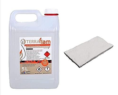 Bioetanol 5L Para Lamparas Chimeneas transparente Combustión alta calidad no humos ni olores