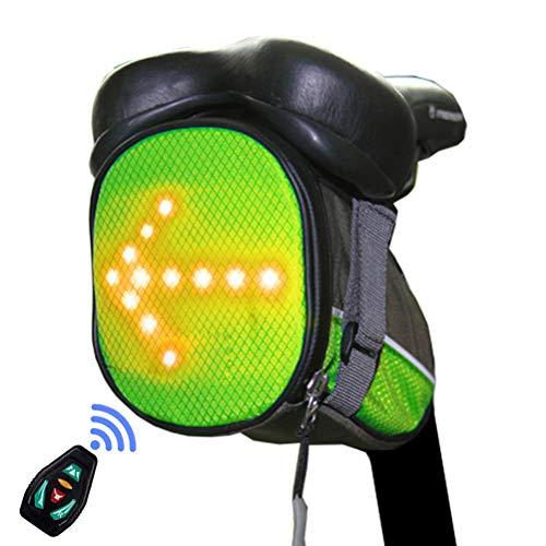 Kohyum Fahrrad Rucksack mit LED Blinker Licht Radfahren Fahrrad Drahtlose Fernbedienung Licht Warnrucksack Bike Reflektierende Tasche Pack Outdoor Sicherheit Nacht Reiten Lauf Gehen Camping