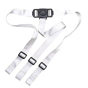 ZARPMA Cinturón de seguridad para bebé, arnés de seguridad de 3 puntos para niño correa segura para silla alta IKEA Antilop (gris)