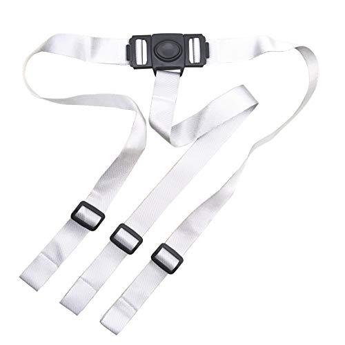 ZARPMA Cinturón de seguridad para bebé, arnés de seguridad de 3 puntos para niños, correa segura para silla alta IKEA Antilop (gris)