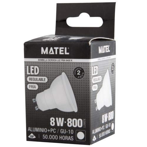 MATEL M292023-led Ampoule gu10 8w lumenes réglable-800