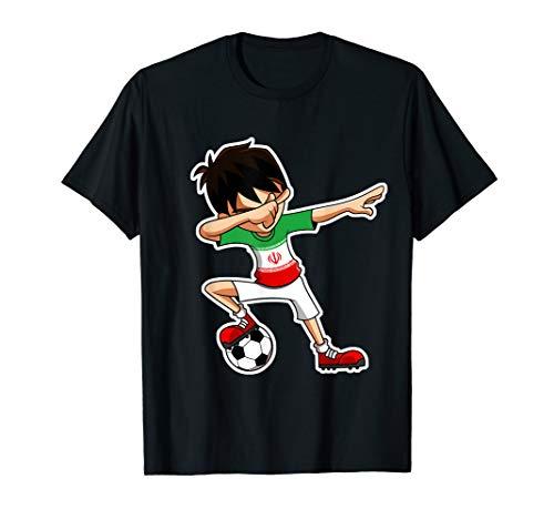 Dabbing Soccer Boy Iran Trikot, Iranische Kinder Geschenke T-Shirt