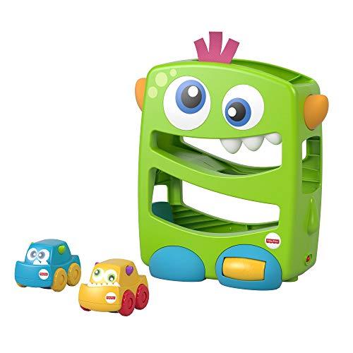 Fisher-Price La Rampe des Monstres, jouet véhicules, sons et musiques pour développer la motricité de bébé, 6 mois et plus, FYL40