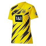 Puma 1a Equipación 20/21 Replica Borussia Dortmund BVB Fútbol Femenino Camiseta, Mujer, Cyber Yellow Black, L