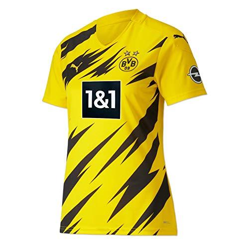 Puma Damen BVB Home Trikot Replica Womens 20/21 T-Shirt, Cyber Yellow Black, M