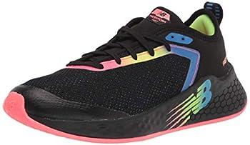 New Balance Girls Fresh Foam Fast V2 Lace-Up Running Shoe Black/Guava 2 Little Kid