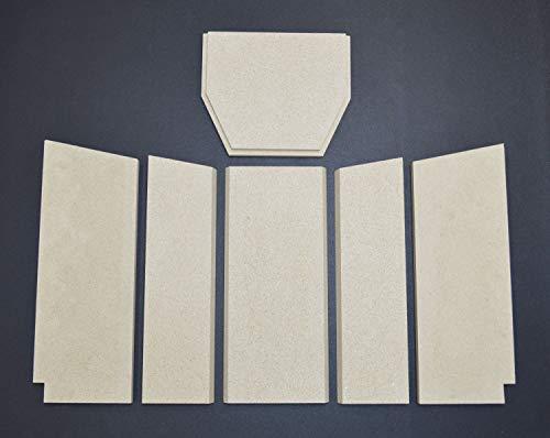 Feuerraumauskleidung für den GKT Evolution Kaminofen - Vermiculite - 6-teilig