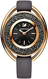 Swarovski Leather Gray dial Watch for Women's