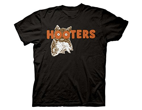 Ripple Junction Hooters Throwback Logo Adult T-Shirt Large Black