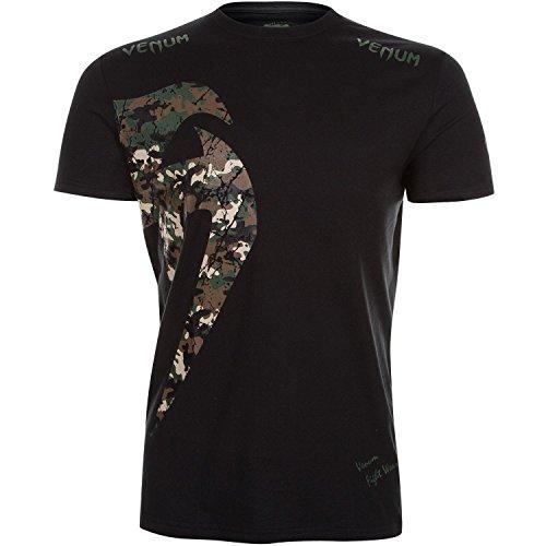 Venum Herren T-shirt Original Giant T shirt, Schwarz/Wald Tarnen, L EU