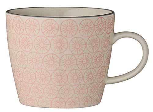 Bloomingville Geschirr Tasse Kaffeetasse Cecile rosa - grau geblümt