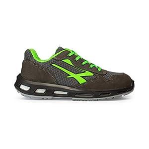 41TjdlpiwpL. SS300  - U-Power S1P SRC - Zapatos de seguridad, color gris y verde, RL20036