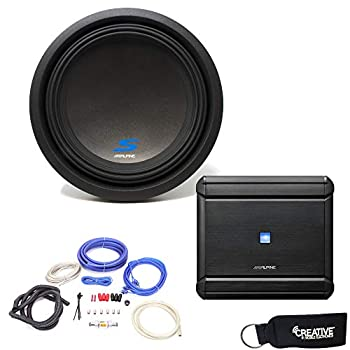 Alpine MRV-M500 Amplifier and a S-W12D4 S-Series 12  Dual 4-Ohm Subwoofer - Includes Wire kit