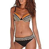 Maillot de Bain Femme 2 Pièce, SANFASHION Bikini Push up,Maillot 2 Pièces Imprime...