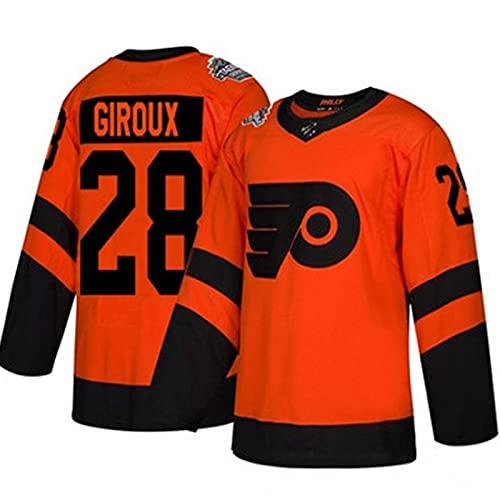 XIKADAN NHL Flyers Hockey Jersey Flyers 93 Voracek 19 Patrick 79 Haart Herren Sweatshirts Atmungsaktives Langarm-T-Shirt Filmversion Eishockey Trikot (S-XXXL),Rot,XXL
