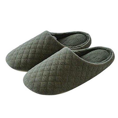Hiver et chaleureux Chaussures Indoor hommes japonais Maison Slipper, Army Green
