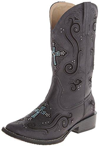 Roper womens Western Boot Hunting Shoe, Black, 9 US