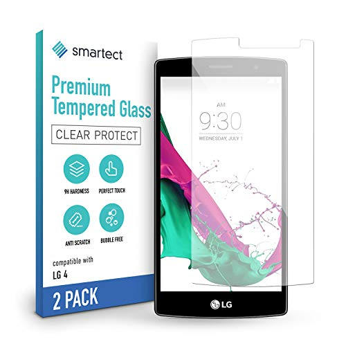 smartect Schutzglas kompatibel mit LG G4 [2 Stück] - Tempered Glass mit 9H Härte - Blasenfreie Schutzfolie - Anti-Kratzer Displayschutzfolie