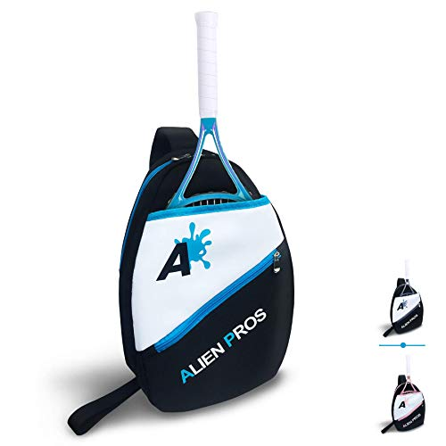 Alien Pros Lightweight Tennis Sling Backpack for Your Racket and Other Essentials - Pack Quickly and Lightly for Tennis and in Life - Tennis Racket Bag Sling Bag for Men and Women, Blue