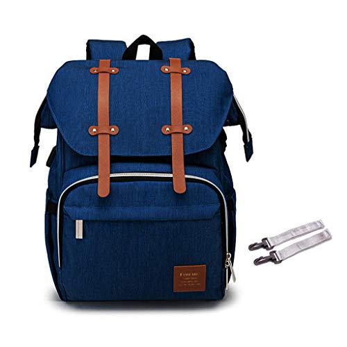 XINGYUE Mochila cambiador de bebé, bolsa de pañales para mamá, papá, mochila para cochecito de bebé, kit de pañales de enfermería, maternidad de gran capacidad, soporte calentador USB