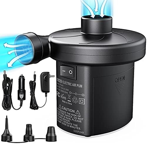 Electric Air Pump, Air Mattress Pump with 3 Nozzles, Dr.meter Battery Powered Portable Air Pump,...