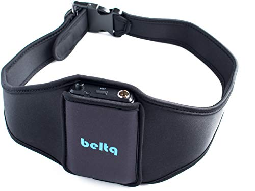 Microphone Belt/Mic Belt by Beltq Black Carrier Belts for Microphone Transmitter Up to 36 inch Waists Mic Pack Holster for Fitness Instructor or Theatre