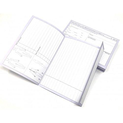 Physiofit24 ® Patientenkarteikarten 200 Stück A5 (200g/m2) festereQualität für Krankengymnastik/Physiotherapie Karteikarten