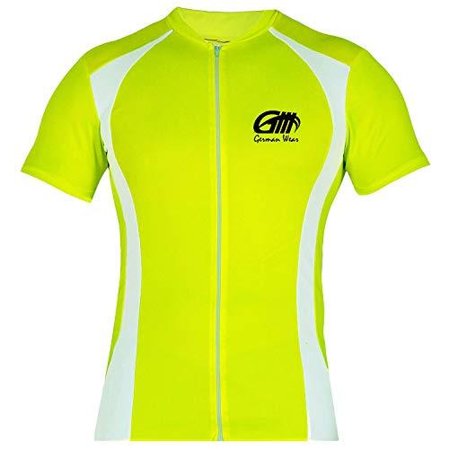 German Wear Trikot Radtrikot Fahrradtrikot Fahrrad Radler-Trikot Shirt Jersey Neongrün, Größe:S